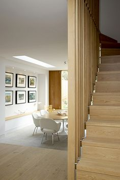 screened wooden stair - Culford Road, London N1 - Martyn Clarke Architecture