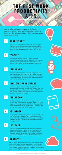 8 Work Productivity Apps for your side business - Consultancy Job - Ideas of Consultancy Job - 8 Work Productivity Apps for your side business Time Management Tips, Business Management, Business Tips, Online Business, Business Infographics, Leadership, Now Quotes, Work Productivity, Discipline