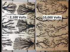Lichtenberg Fractal Burning Art Start to finish - Twilight Mist - YouTube