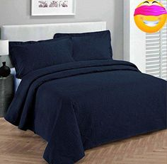 #wow Our quilt sets can also be #used as #bedspreads, coverlets, comforters and room decoration art craft. y. All quilt sets include pillow shams. This is a wonde...