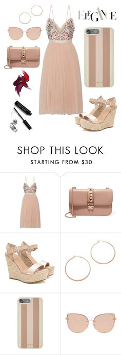 """elegant elegance"" by skylar0629 ❤ liked on Polyvore featuring Needle & Thread, Valentino, Jennifer Zeuner, Michael Kors, Topshop and Bobbi Brown Cosmetics"