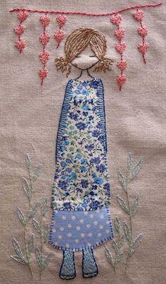 In the garden hand embroidery pattern pdf par LiliPopo sur Etsy Source by valeriabraga Applique Embroidery Designs, Embroidery Applique, Cross Stitch Embroidery, Machine Embroidery, Applique Ideas, Bordados E Cia, Fabric Art, Craft Fairs, Needlework