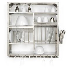 Stainless Steel Dish Dryer Kitchen Plate Rack Stainless Steel - Wall Hanging…