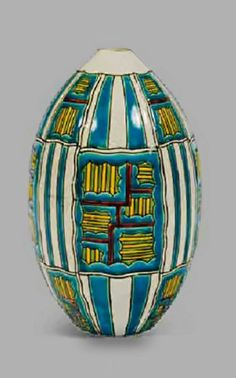 Art Deco Ovoid Ceramic Vase by Charles Catteau, France