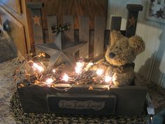 Grubby lighted Box https://www.facebook.com/pages/Primitive-Country-Treasures/100991083354848