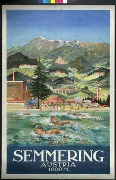 Vintage Travel Posters, Vintage Postcards, Travel Ads, Austria Travel, Central Europe, Hotels, Vintage Advertisements, Great Artists, Germany