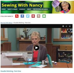 Doodle Stitching by Nancy Zieman | Sewing With Nancy | Sketchbook to Sewing Machine
