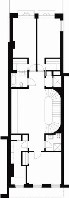 East Village Townhouse 2nd Floor Plan