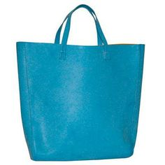 A roomy faux-leather tote in six colors, $40