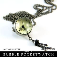 Bubble Glass Pocket Watch Charm. Sold by Annie Howes www.anniehowes.com