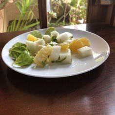 Jicama Orange Basil Salad - My Baja Kitchen Brunch Recipes, Breakfast Recipes, Mexican Salads, Vegan Dinners, Kitchen Recipes, Original Recipe, Healthy Cooking, Vegan Vegetarian, Stuffed Peppers
