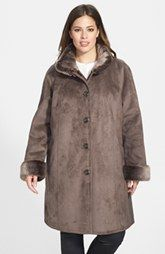 Limited supply DKNY Faux Fur Trim Anorak Online Look For
