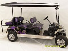 A 'lifted' 6-person Limo Golf Cart!  Gotta have one...'