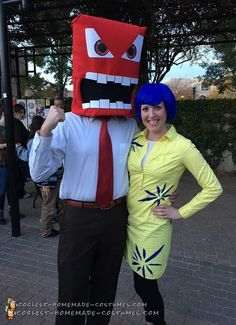 Coolest Homemade Costumes for DIY Costume Enthusiasts Two Person Costumes, Cool Couple Halloween Costumes, Halloween Costume Contest, Happy Halloween, Halloween Party, Halloween Ideas, Homemade Costumes, Cool Costumes, Costume Ideas