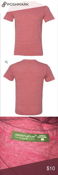NWOT men's red heather crew neck Alternative Apparel Earth men's crew neck tshirt in heather red. Super comfy and soft. Alternative Apparel Shirts Tees - Short Sleeve