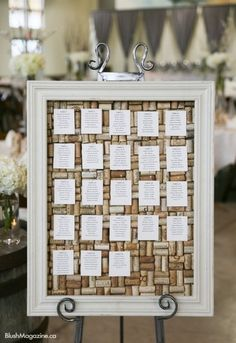 Wine cork seating chart