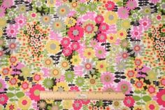 11.8 Yards Kaufmann Get Happy Printed Cotton Drapery Fabric in Meadow