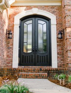 Searching for a front double door, but having trouble finding one that suits your home? Partner with Clark Hall to sketch a completely custom iron door—we turn your dreams into a reality. Traditional Doors, Traditional House, Traditional Styles, Custom Exterior Doors, Double Front Entry Doors, House Entrance, Entrance Ideas, Front Entrances, Iron Doors