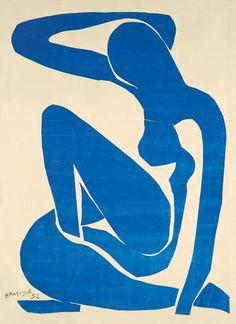 blue nude II, 1952, h matisse.
