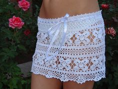 I found amazing knitted dresses for the summer. The author of these sets Zest, to her many thanks fo Lace Shorts, White Shorts, Beach Covers, Crochet Clothes, Knit Dress, Knit Crochet, Bikinis, Cover Up, Knitting