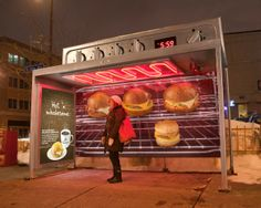 Caribou Coffee: Ovens out of transit shelters