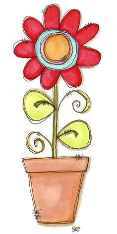 I want to fill a whole page with a variety of sizes of this watercolor flower...love it!