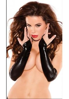 7e02773ca0 These black vinyl gloves are fingerless and feature a finger strap to hold  in place. (Includes a set of 2 gloves) Black Vinyl Fingerless Gloves