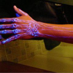 Glow in the dark tattoo, pretty popular now