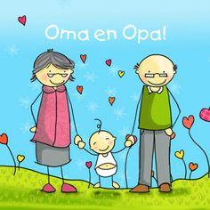 Felicitatiekaart oma en opa, gemaakt door Anet van de Vorst