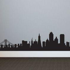 San Francisco Skyline Silhouette - Dana Decals - 1