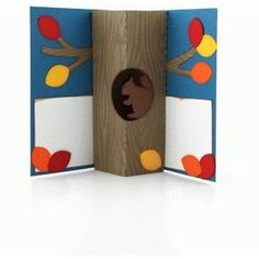 Silhouette Design Store - View Design squirrel tree trunk pop up card Fun Fold Cards, 3d Cards, Cuento Pop Up, Book Making, Card Making, Tarjetas Pop Up, Pop Up Art, Paper Pop, Artist Card