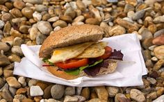 Britain's best beach cafes and restaurants - Telegraph Seaside Restaurant, London Cafe, Beach Cafe, England, Cafe Food, Grubs, Places To Eat, Bagel, Seafood