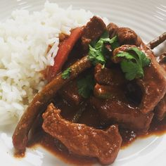 Recipe for Thai beef panang curry.