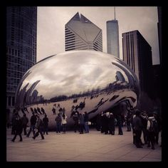 Bean with effects . Gate, Chicago, Clouds, Travel, Voyage, Viajes, Traveling, Trips, Tourism