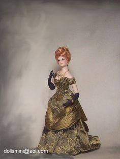 1:12 miniature dollhouse doll Dollhouse Dolls, Miniature Dolls, Dollhouse Clothing, Victorian Dolls, Vintage Dolls, Pretty Dolls, Beautiful Dolls, Ooak Dolls, Art Dolls