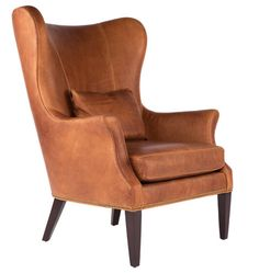 """<big><a href=""""http://www.rejuvenation.com/customer-service/swatches"""" target=""""_blank"""">Request Free Swatches</a></big>  The Clinton offers an update on the wingback chair, a style popularized in the 1700s and a living room staple ever since. Each piece is bench-made by a family-owned North Carolina company that incorporates sustainability into every process.  This piece ships with White Glove delivery. We'll bring the chair into your home, set it up, and remove all packaging. Delivery…"""
