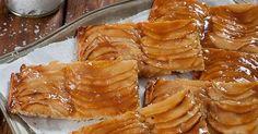 Ingrédients: 300 g de farine 50 g d'eau 200 g de beurre doux à la température de la pièce Une pincée de sel fin 300 g de pommes... Tarte Fine, Apple Pie, Food, Sweet Pie, Tarts, Salt, Kitchens, Recipes, Essen