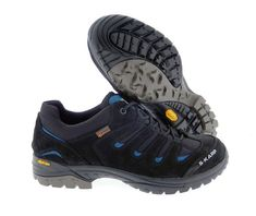 S-KARP Fun Trekker, Black/Blue- Trekking shoes Trekking Shoes, Hiking Boots, Urban, Casual, Fun, Black, Fashion, Moda, Black People