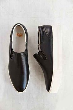 Ash Karma Leather Platform Slip-On Sneaker