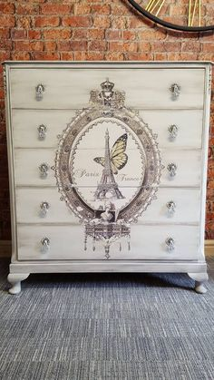 The beautiful image on this dresser was applied using Artisan Enhancements Transfer Gel!  Inspiring work by AE retailer, Chic Interiors Wigan.