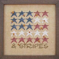 Stars & Stripes Cross Stitch Pattern Embroidery Patterns by Samsarah Design Studio Cross Stitch Love, Cross Stitch Charts, Cross Stitch Designs, Cross Stitch Patterns, Learn Embroidery, Cross Stitch Embroidery, Embroidery Patterns, Ribbon Embroidery, Christmas Cross