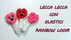 ♥ Tutorial  LECCA LECCA Con Elastici Rainbow Loom DIY Lollipop Charm ♥