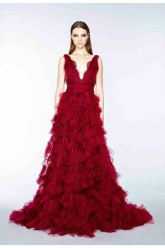 Marchesa pre-fall 2015 stunning red dress