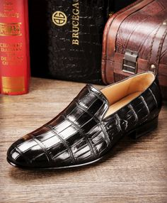 Useful Alligator China Designer Brand Male Brown Dress Italian Crocodile Skin Leather Office Social Cheap Cocodrilo Formal Shoe For Men 2019 New Fashion Style Online Shoes
