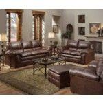 Simmons Upholstery - Geneva 4 Piece Sofa Set In Mahogany - 6152-4Set