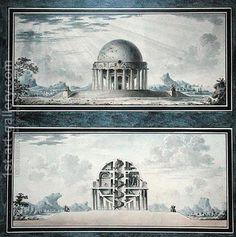 Antoine Laurent Thomas Vaudoyer:Design for a House for a Cosmopolite, 1783