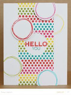 Hello You card by RobynRW at @Studio_Calico - #SChellohello