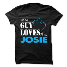 This Guy Love His JOSIE ! - #gift for girlfriend #day gift. LIMITED TIME PRICE => https://www.sunfrog.com/LifeStyle/This-Guy-Love-His-JOSIE-.html?68278