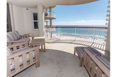 You can see for miles from this expansive Gulf-front balcony at Beach Colony Resort West. Navarre Beach, Resort Style, Sandy Beaches, Colonial, Balcony, Swimming Pools, Condo, Deck, Patio