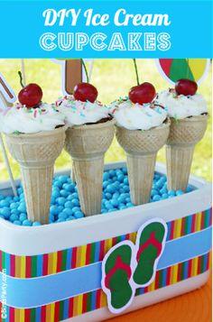 DIY Ice Cream Cupcakes TUTORIAL